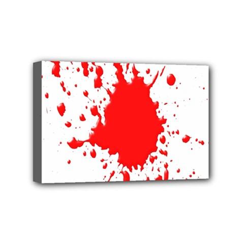 Red Blood Splatter Mini Canvas 6  X 4