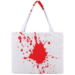 Red Blood Splatter Mini Tote Bag