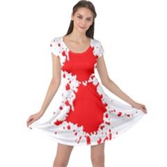 Red Blood Splatter Cap Sleeve Dress