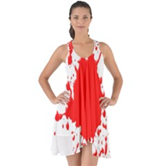 Red Blood Splatter Show Some Back Chiffon Dress