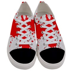 Red Blood Splatter Women s Low Top Canvas Sneakers