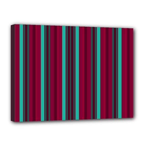 Red Blue Line Vertical Canvas 16  X 12