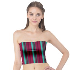 Red Blue Line Vertical Tube Top