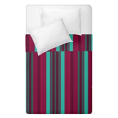 Red Blue Line Vertical Duvet Cover Double Side (single Size)