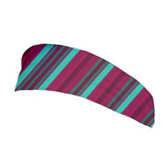 Red Blue Line Vertical Stretchable Headband