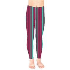 Red Blue Line Vertical Kids  Legging