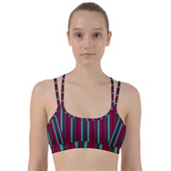 Red Blue Line Vertical Line Them Up Sports Bra