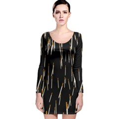 Rain Cigarettes Transparent Background Motion Angle Long Sleeve Velvet Bodycon Dress