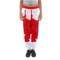 Red Blood Transparent Women s Jogger Sweatpants