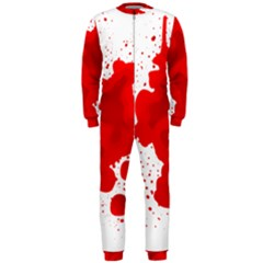 Red Blood Transparent Onepiece Jumpsuit (men)