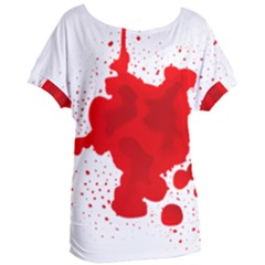 Red Blood Transparent Women s Oversized Tee