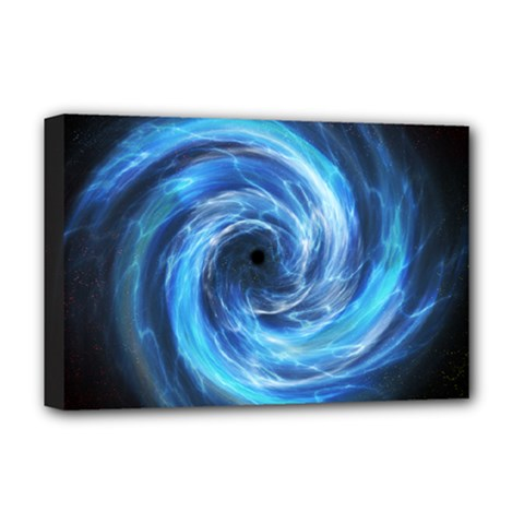 Hole Space Galaxy Star Planet Deluxe Canvas 18  X 12