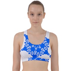 Snowflake Art Blue Cool Polka Dots Back Weave Sports Bra