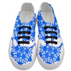 Snowflake Art Blue Cool Polka Dots Women s Classic Low Top Sneakers