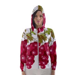 Red Fruit Grape Hooded Wind Breaker (women)