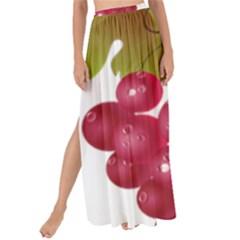 Red Fruit Grape Maxi Chiffon Tie Up Sarong