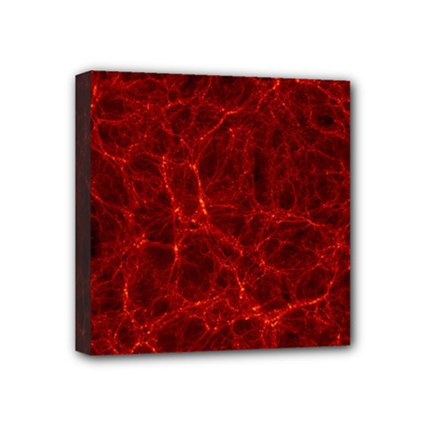 Simulation Red Water Waves Light Mini Canvas 4  X 4