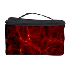 Simulation Red Water Waves Light Cosmetic Storage Case