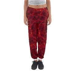 Simulation Red Water Waves Light Women s Jogger Sweatpants