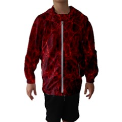 Simulation Red Water Waves Light Hooded Wind Breaker (kids)