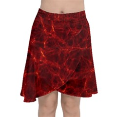 Simulation Red Water Waves Light Chiffon Wrap