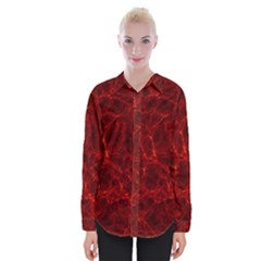 Simulation Red Water Waves Light Womens Long Sleeve Shirt