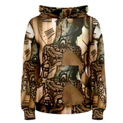 Steampunk, Steampunk Women With Clocks And Gears Women s Pullover Hoodie