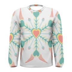 Snowflakes Heart Love Valentine Angle Pink Blue Sexy Men s Long Sleeve Tee
