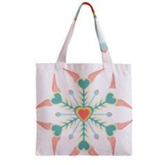 Snowflakes Heart Love Valentine Angle Pink Blue Sexy Zipper Grocery Tote Bag
