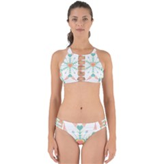 Snowflakes Heart Love Valentine Angle Pink Blue Sexy Perfectly Cut Out Bikini Set