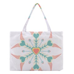 Snowflakes Heart Love Valentine Angle Pink Blue Sexy Medium Tote Bag