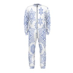 Snowflakes Blue White Cool Onepiece Jumpsuit (kids)