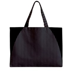 Space Line Grey Black Zipper Mini Tote Bag