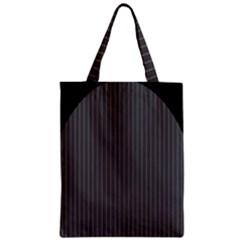 Space Line Grey Black Zipper Classic Tote Bag
