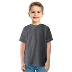 Space Line Grey Black Kids  Sport Mesh Tee