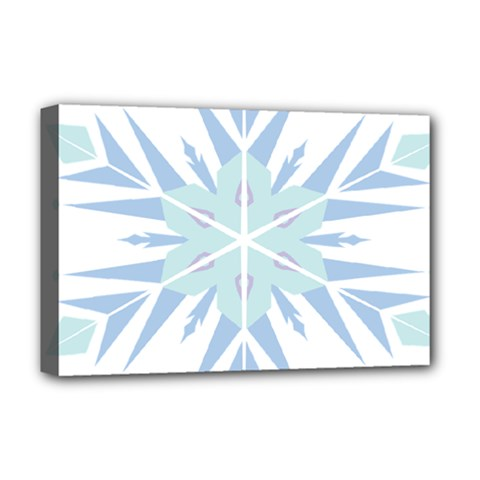 Snowflakes Star Blue Triangle Deluxe Canvas 18  X 12
