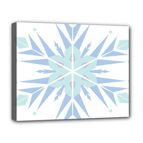 Snowflakes Star Blue Triangle Deluxe Canvas 20  X 16