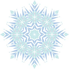 Snowflakes Star Blue Triangle Hook Handle Umbrellas (small)