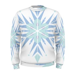 Snowflakes Star Blue Triangle Men s Sweatshirt