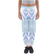 Snowflakes Star Blue Triangle Women s Jogger Sweatpants