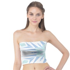 Snowflakes Star Blue Triangle Tube Top