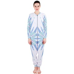 Snowflakes Star Blue Triangle Onepiece Jumpsuit (ladies)