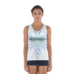 Snowflakes Star Blue Triangle Sport Tank Top
