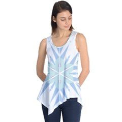 Snowflakes Star Blue Triangle Sleeveless Tunic