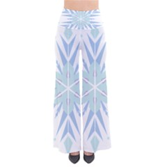 Snowflakes Star Blue Triangle Pants