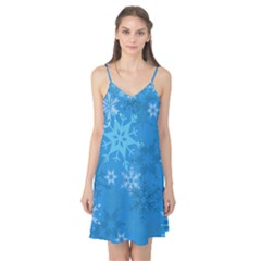 Snowflakes Cool Blue Star Camis Nightgown