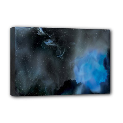 Space Star Blue Sky Deluxe Canvas 18  X 12