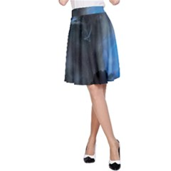 Space Star Blue Sky A Line Skirt