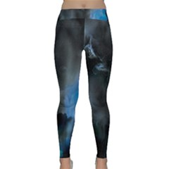 Space Star Blue Sky Classic Yoga Leggings