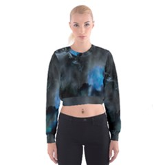 Space Star Blue Sky Cropped Sweatshirt